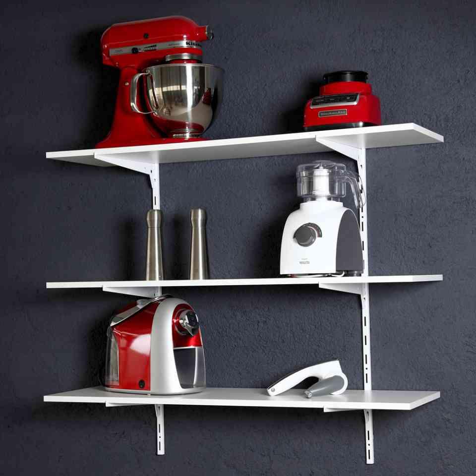 Trilhos com aplicação em cozinha.
